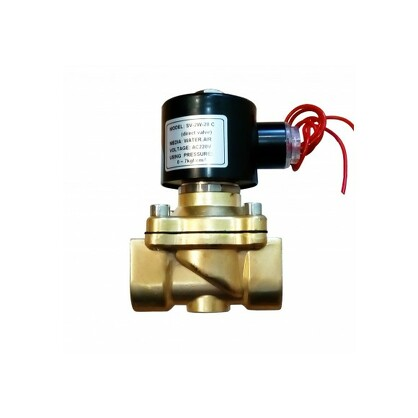 """Соленоидный клапан прямого действия SV-2W-25 N/C 1"""" (латунь)"""