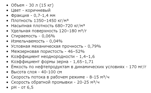 Сорбент АС 0,7-1,4 мм